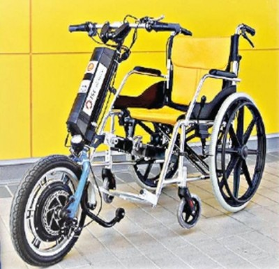 ใส่มอเตอร์ติดสปีดให้วีลแชร์ ผู้พิการ-สูงวัย ใช้ชีวิตนอกบ้าน