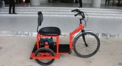 """""""มทร.ศรีวิชัย"""" กับรถคนพิการต้นแบบเครื่องยนต์เล็กเบนซิน"""